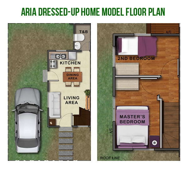ARIA Dressed-Up Home Model Floor Plan