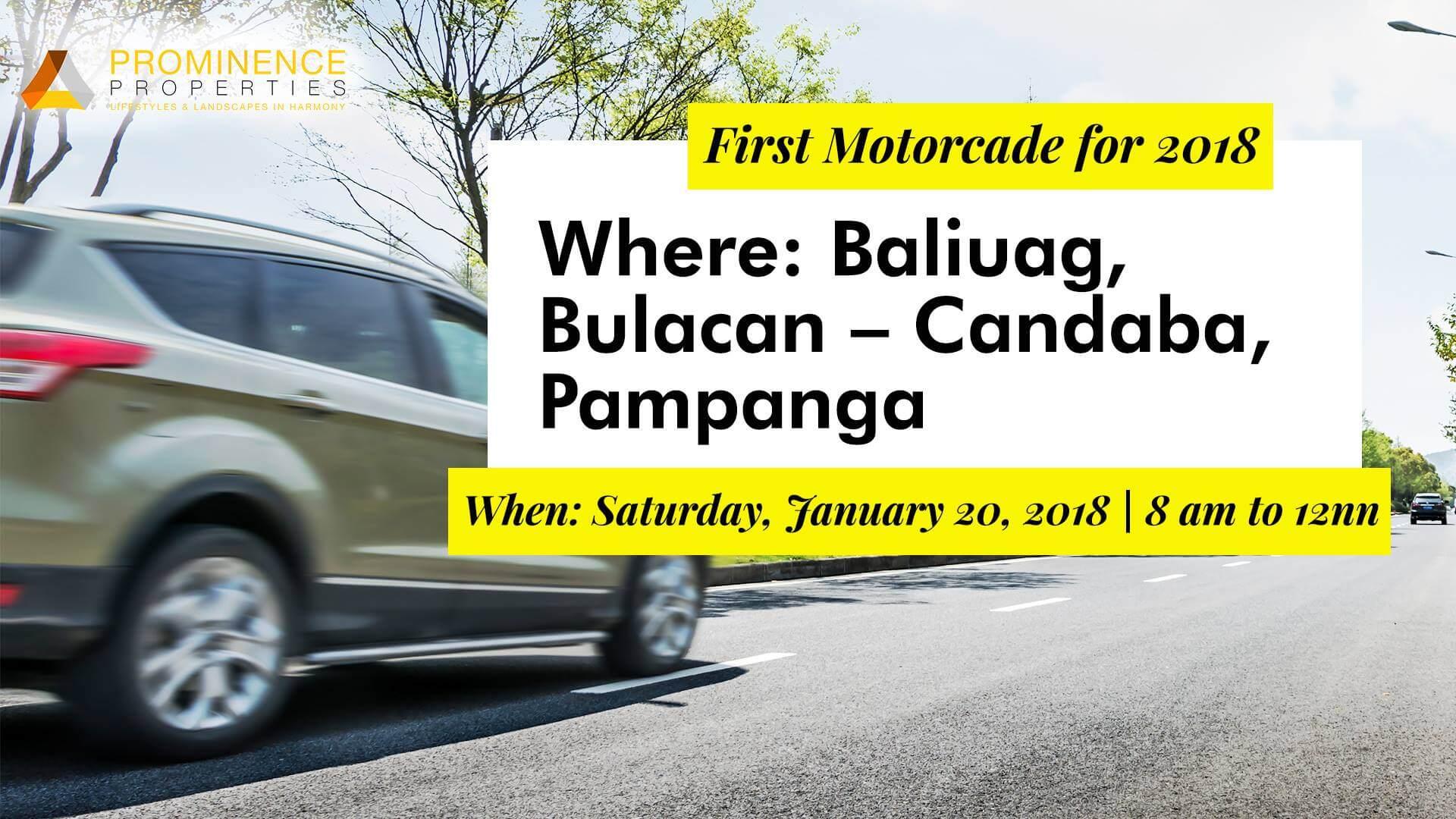 First Motorcade for 2018 (Baliuag-Candaba)