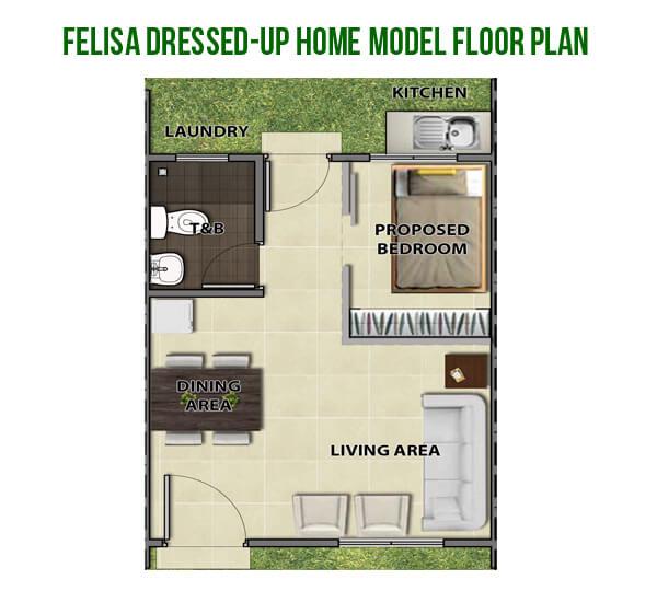 Felisa Dressed-Up Home Model Floor Plan